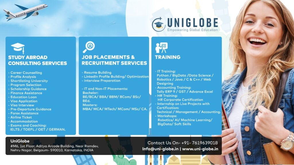 Uniglobe Consultancies –  Abroad Education, Training and Job Placements Consulting Firm.
